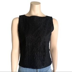 Steilmann Black Lace Sleeveless Lined Blouse